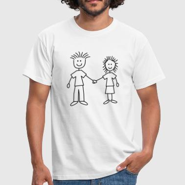 family_mom_and_dad_1c - Männer T-Shirt