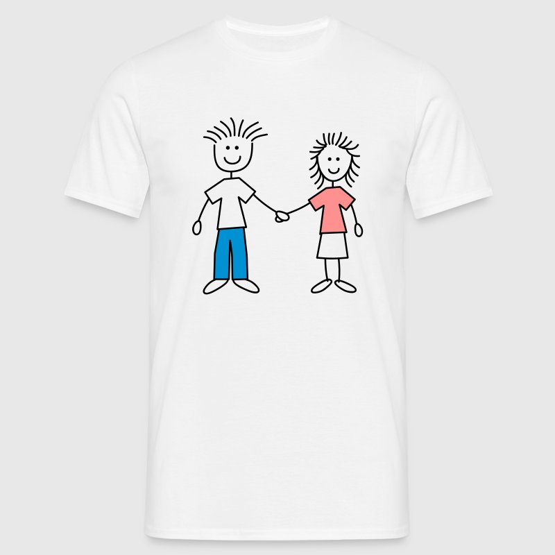 family_mom_and_dad_3c - Herre-T-shirt