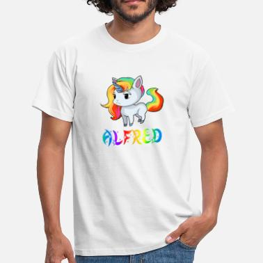 Alfred Unicorn Alfred - Men's T-Shirt