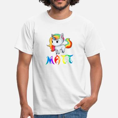 Matthieu Unicorn Matt - Herre-T-shirt