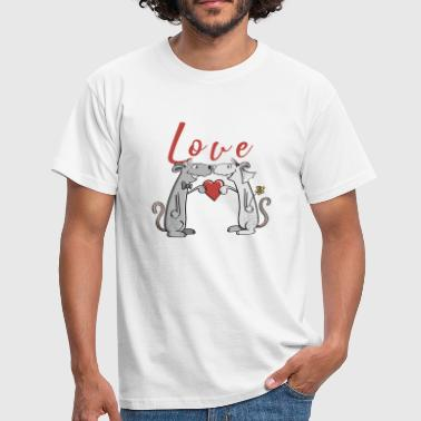 Pair Of Newlyweds Love wedding mice - love - newlyweds - get married - Men's T-Shirt