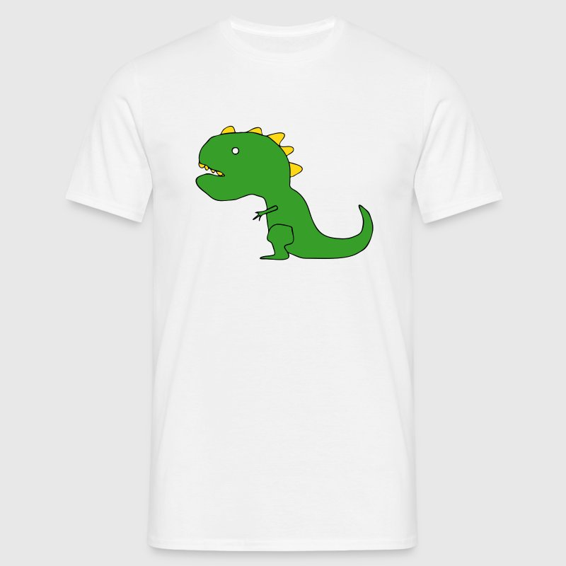Funny Cartoon T-Rex Drawing - Men's T-Shirt