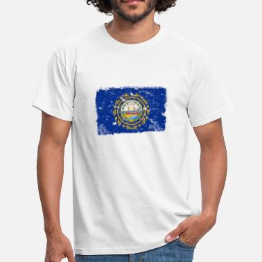 New Hampshire New Hampshire Vintage Flag - Herre-T-shirt