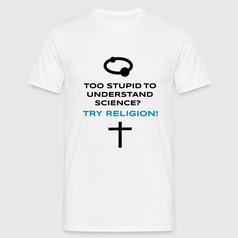 Science vs. Religion - Men's T-Shirt