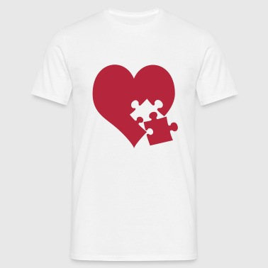 heart / lovesickness - Men's T-Shirt