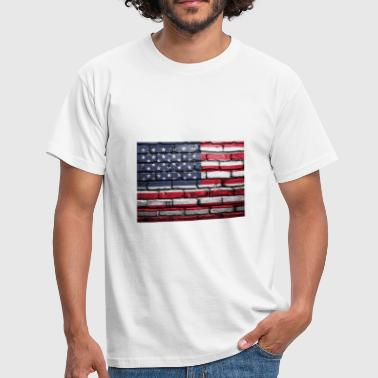 Coole vlag van de VS. - Mannen T-shirt