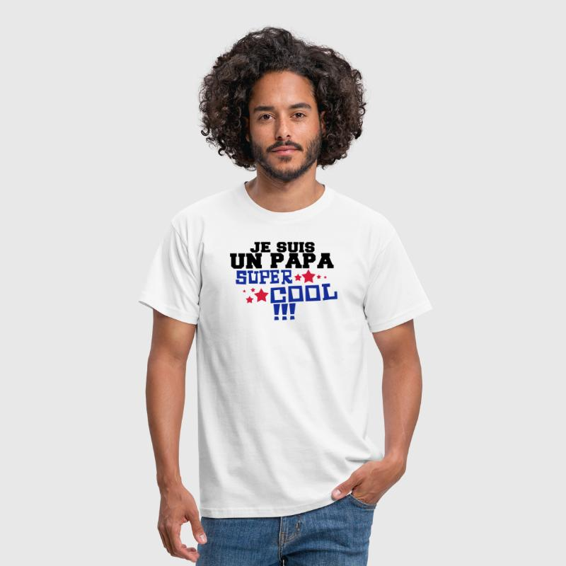 un papa super cool - T-shirt Homme