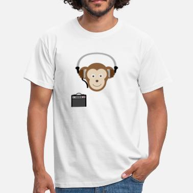 Discothek Cool monkey listens to music and chills! Shirt - hoodie - Men's T-Shirt