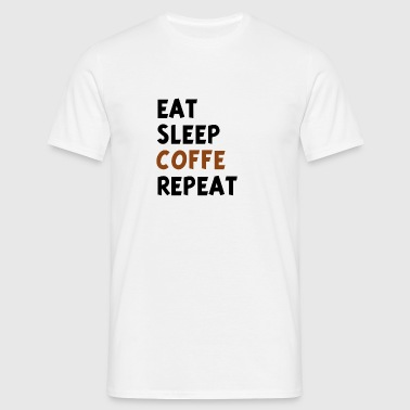 SPISE SLEEP COFFE REAPEAT v1 - Herre-T-shirt
