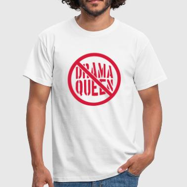 Prohibition no drama queen zone shield forbidden no cool fra - Men's T-Shirt