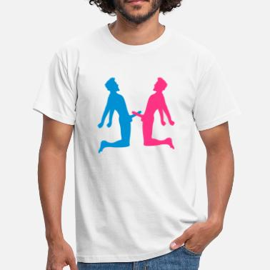 National fights fight 2 friends team couple love peni - Men's T-Shirt