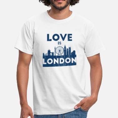 Kensington Love Is London - City Break - Gift Skyline - Koszulka męska