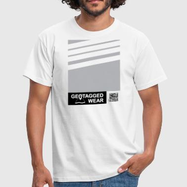 Men Stripes Pantone Trend S / S 18 Habor Mist - Men's T-Shirt