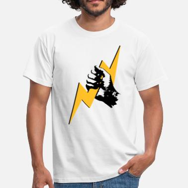 Zeus Zeus lightning hand  - Men's T-Shirt