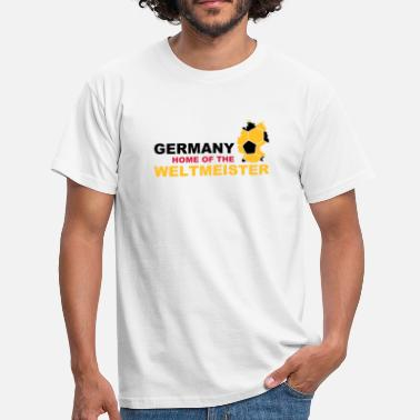 Wereldkampioen Germany home of the weltmeister - Mannen T-shirt