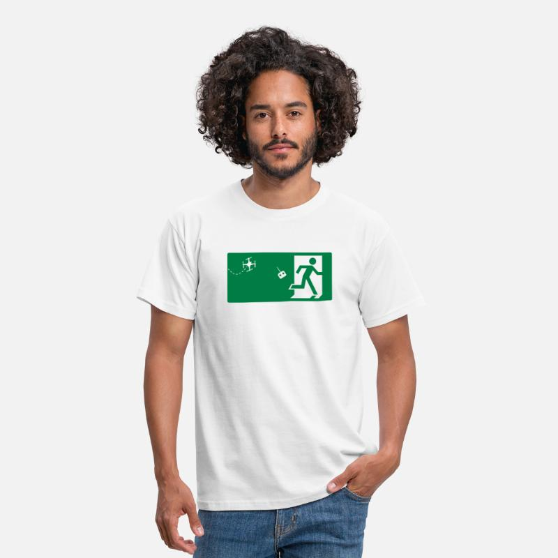 Attention T-shirts - Attention Drone - T-shirt Homme blanc