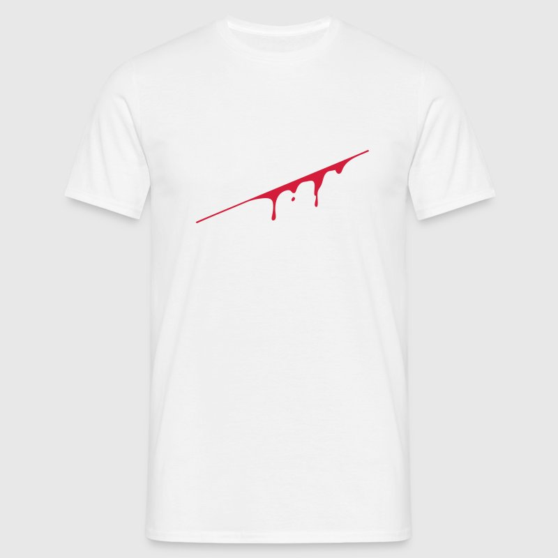 blood splatter - Mannen T-shirt