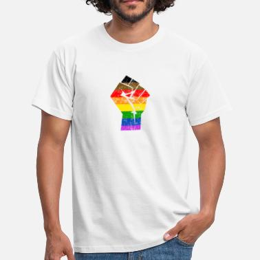 Philly More Colors More Pride Philly Rainbow Flag LGBT - Men's T-Shirt