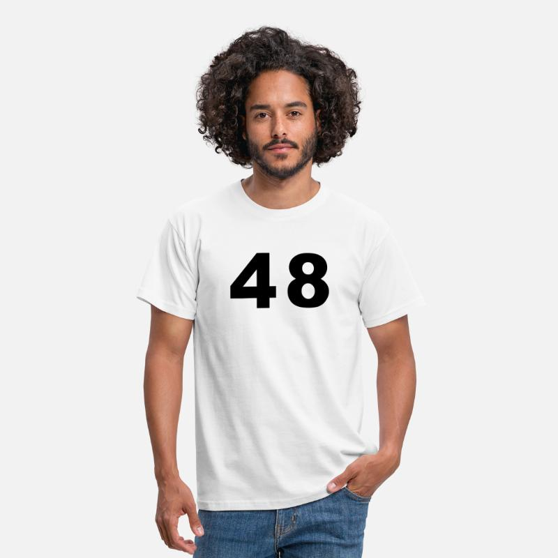 Football T-Shirts - Number - 48 – Forty Eight - Men's T-Shirt white