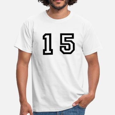 Fifteen number - 15 - fifteen - Men's T-Shirt