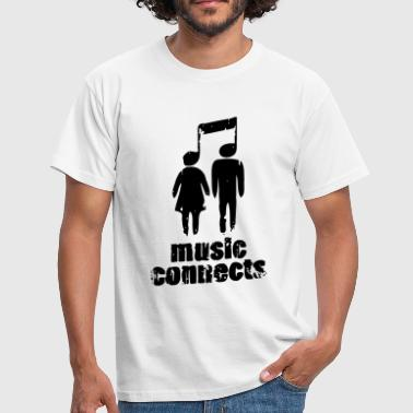 Connect Music Connects - Männer T-Shirt