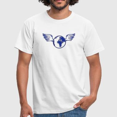 Forurening earth with wings - Herre-T-shirt