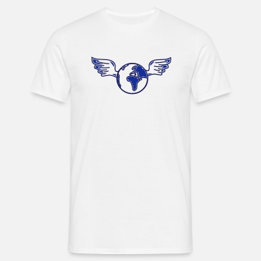 Attitude earth with wings - Men's T-Shirt