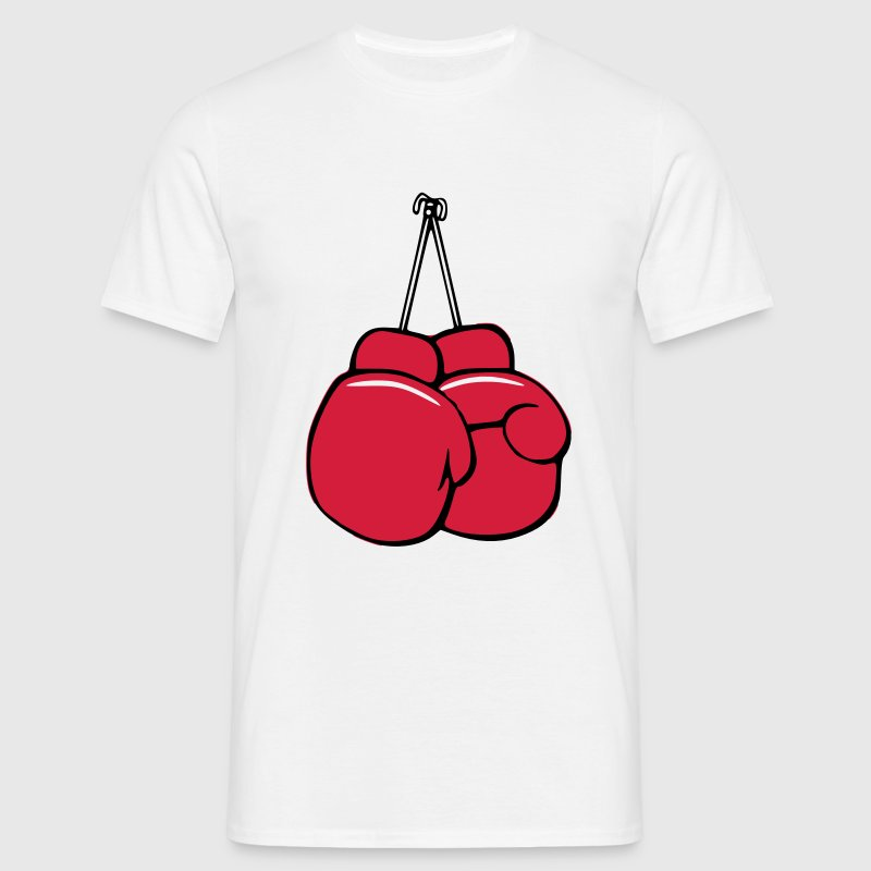 Boxhandschuhe Cartoon Vektor - Mannen T-shirt
