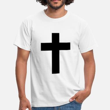 Jesus And Cross Cross - Jesus  - Men's T-Shirt