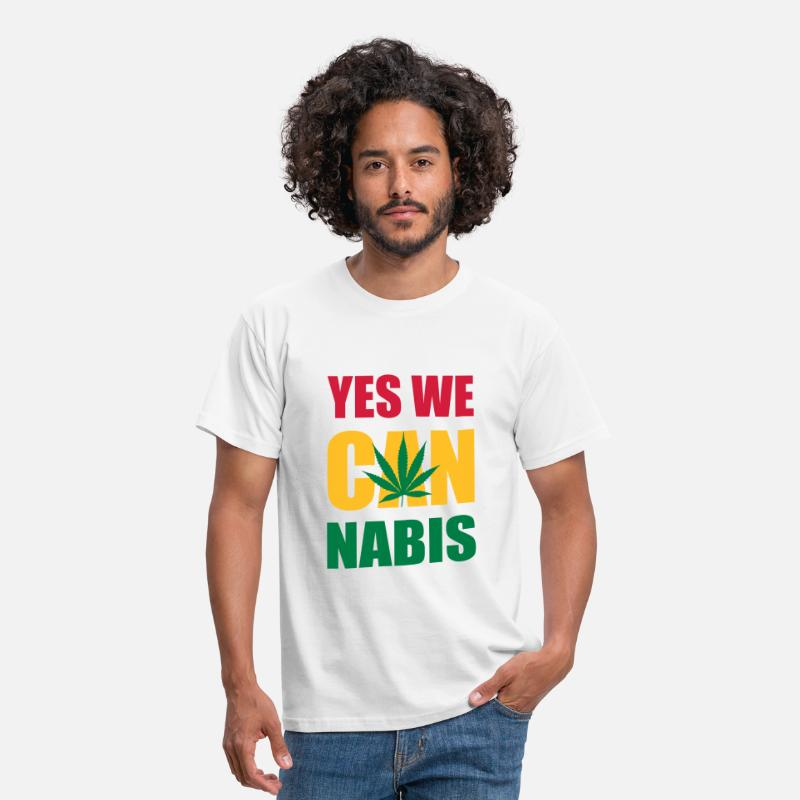 Alcohol T-Shirts - cannabis drugs hasjiesj alcohol marihuana reggae - Mannen T-shirt wit