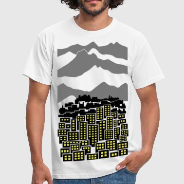 Highrise Building City - Men's T-Shirt