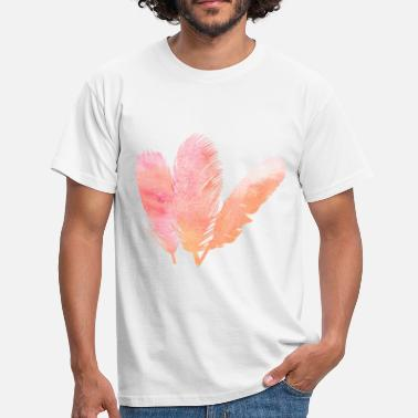 Feathered Feather feathers feathers gradient - Men's T-Shirt
