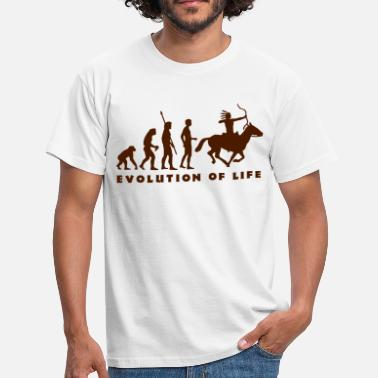 Native American evolution_indianer_b - Mannen T-shirt