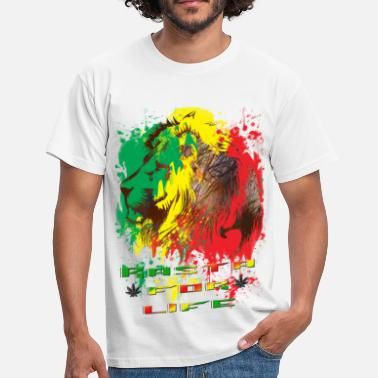 Reggae rasta for life - T-shirt Homme