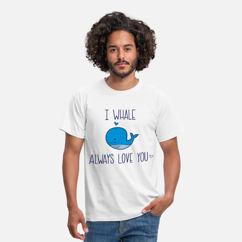 Couples T-Shirts - I whale always Love you - Men's T-Shirt white