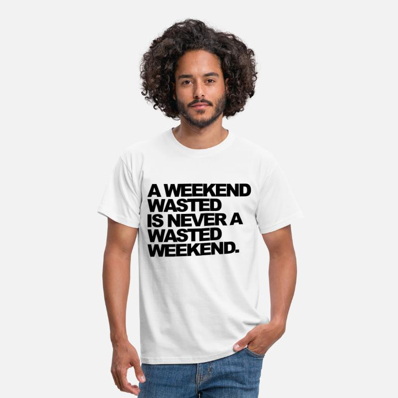 Club T-shirts - A Weekend Wasted - T-shirt Homme blanc