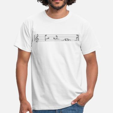 Sex Position Musik-Noten - Männer T-Shirt