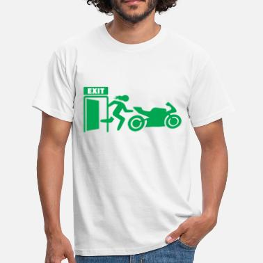 Exit Motorcycle emergency exit office shirt T-shirt - Men's T-Shirt