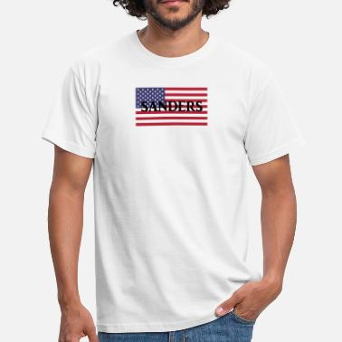Donald Trump Bernie Sanders on US Flag - Männer T-Shirt