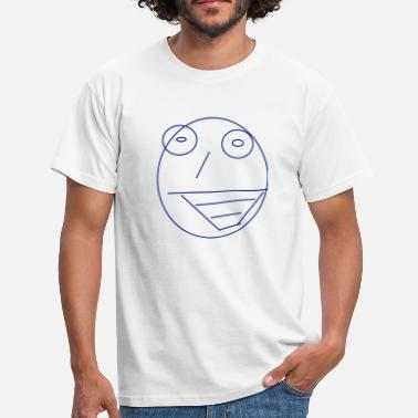 Face Drawings face crazy drawing - Men's T-Shirt
