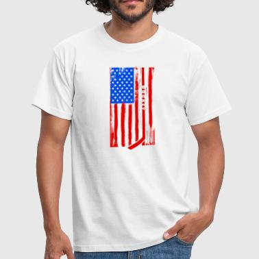 USA Eishockey-Team-Flagge - Männer T-Shirt