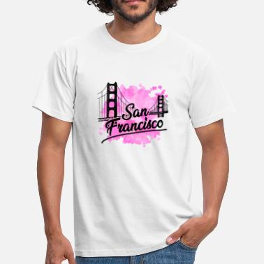 Francisco San Francisco Golden Gate Bridge - Herre-T-shirt