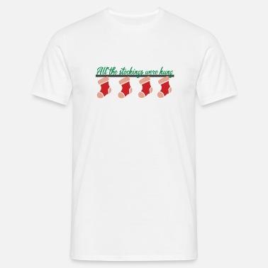 74ad4c60fa1 Alle kousen | Christmas Kerstsokken Mannen premium T-shirt | Spreadshirt