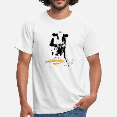 Cowes Week MOOnday cow - Men's T-Shirt