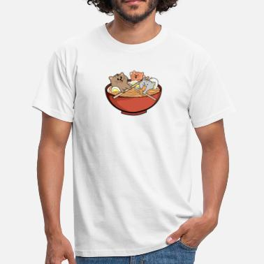 Kawaii Ramen kitten gift noodles Asian food Eat - Men's T-Shirt
