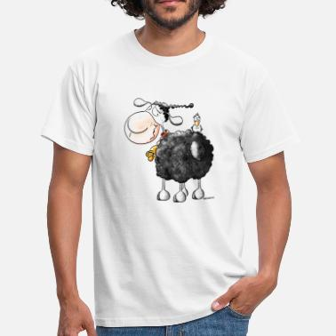 Cartoon Sheep Funny Curly Sheep - Cartoon  - Men's T-Shirt