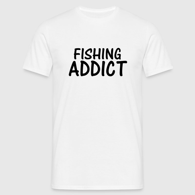 fishing addict - Men's T-Shirt