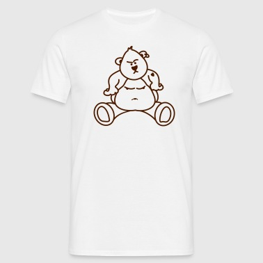 Perversely Rocker Bear / Teddy - Men's T-Shirt
