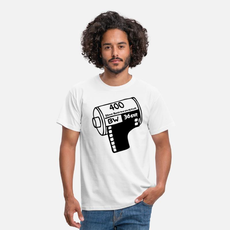 Old School T-Shirts - Filmrol - Mannen T-shirt wit
