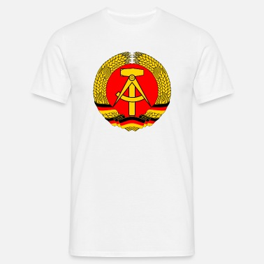 e3274ff9a21 East Germany Crest Flag Wreath GDR DDR Emblem Men s Retro T-Shirt ...